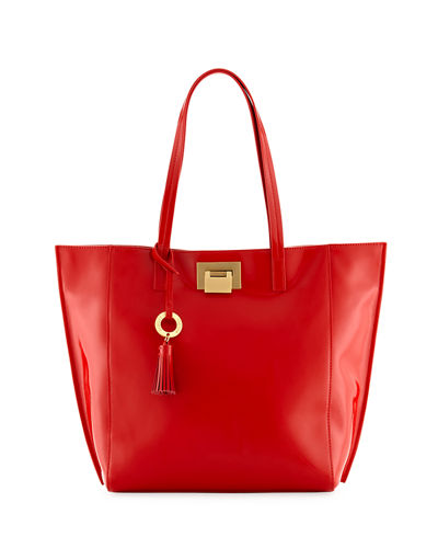 Bobbie Patent Leather Tote Bag