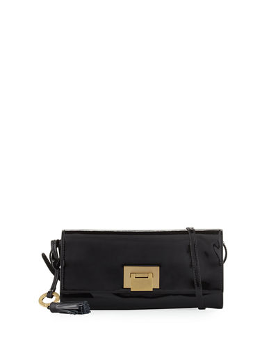 Bobbie Patent Leather Clutch Bag