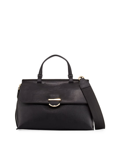 Hudson Faux-Leather Satchel Bag