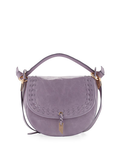 Violetta Woven Leather Saddle Bag