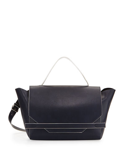 Cynthia Faux-Leather Satchel Bag