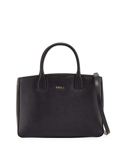 Camilla Medium Saffiano Leather Tote Bag