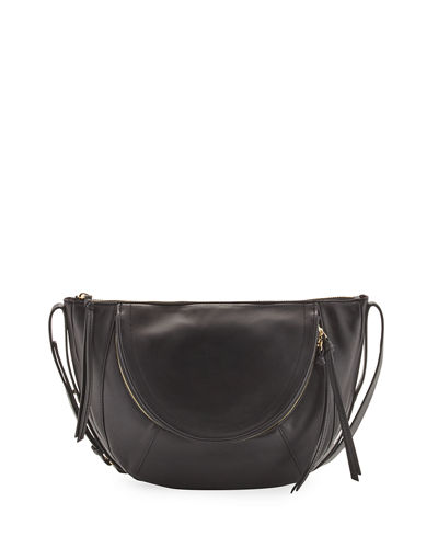Clara Half Moon Leather Shoulder Bag