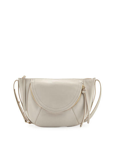 Clara Half-Moon Leather Shoulder Bag