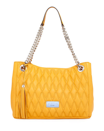 Verra D Quilted Leather Tote Bag
