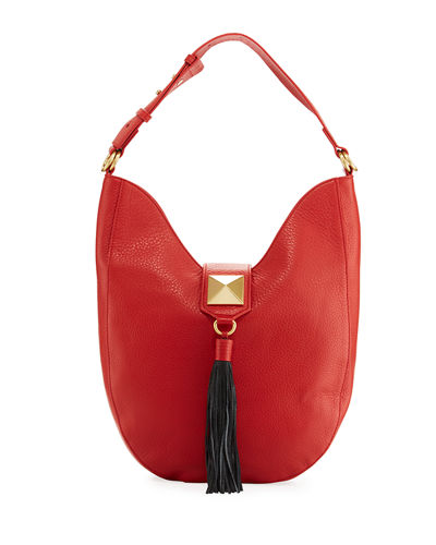 Bailey Pebbled Leather Hobo Bag