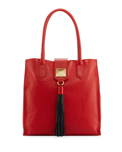 Bailey Leather Tassel Tote Bag