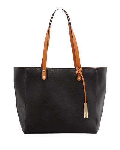 Organizer Faux-Leather Tote Bag