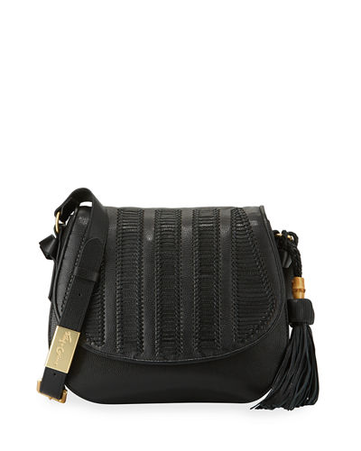Charlotte Leather Saddle Bag
