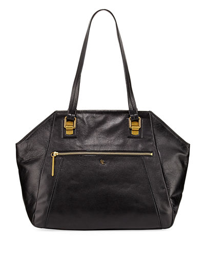 Faro Leather Shoulder Tote Bag