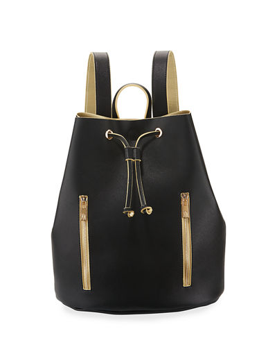 Contrast Drawstring Backpack