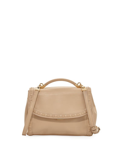 Gemma Lacing Smooth Satchel Bag