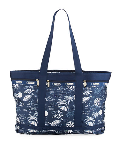 East-West Nylon Travel Tote Bag