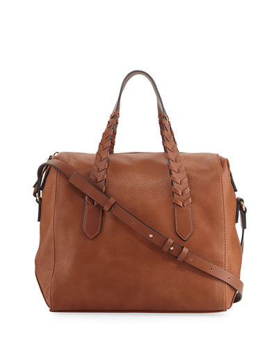 Emory Whipstitch Satchel Bag