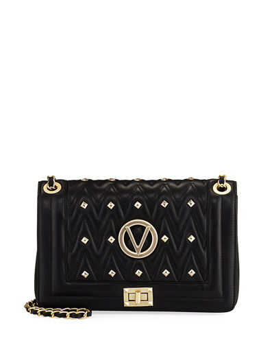 Alice D Quilted Flap Shoulder Bag