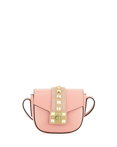 Claudine Leather Flap Crossbody Bag
