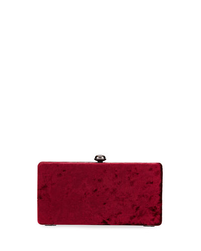 Crushed Velvet Box Clutch Bag
