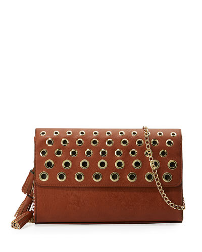 Tegan Small Grommet Clutch Bag