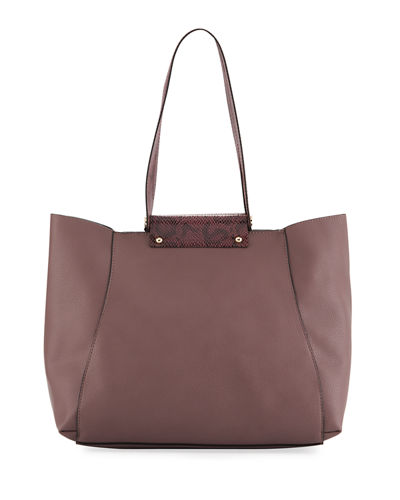 Tessa Snake-Roll Handle Tote Bag