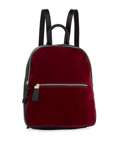Vera Velvet Two-Tone Backpack