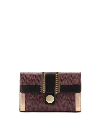 Wild Snake Rickrack Clutch Bag