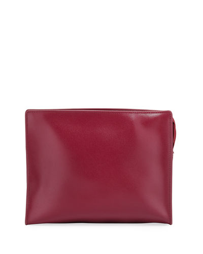 Saffiano Large Cosmetic Clutch Bag