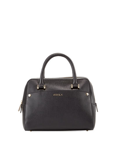 Margot Small Saffiano Leather Satchel Bag