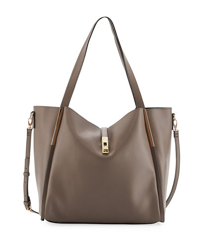 Abigail Slouchy Faux Leather Hobo Tote Bag