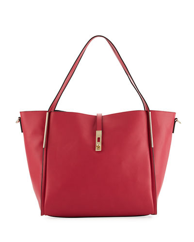 Abigail Slouchy Faux-Leather Hobo Tote Bag