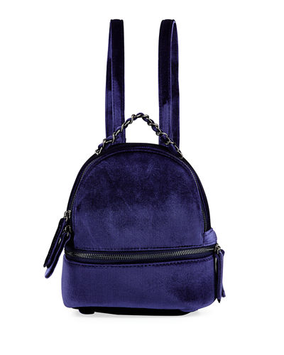 Sienna Velvet Mini Backpack