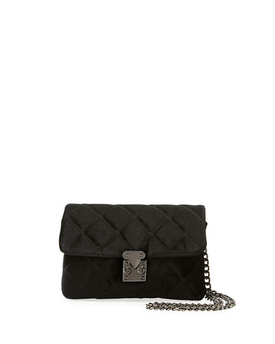Jane Quilted Velvet Mini Crossbody Bag