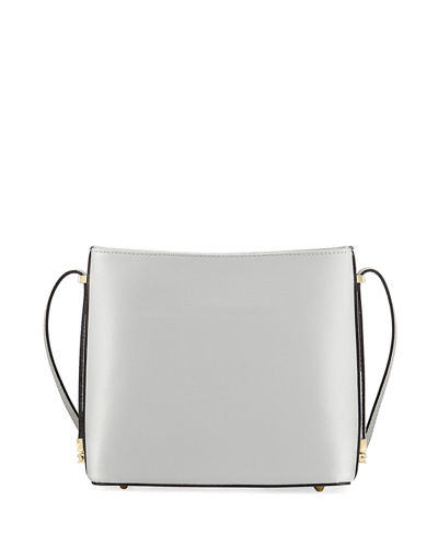 Saffiano Leather Boxy Shoulder Bag