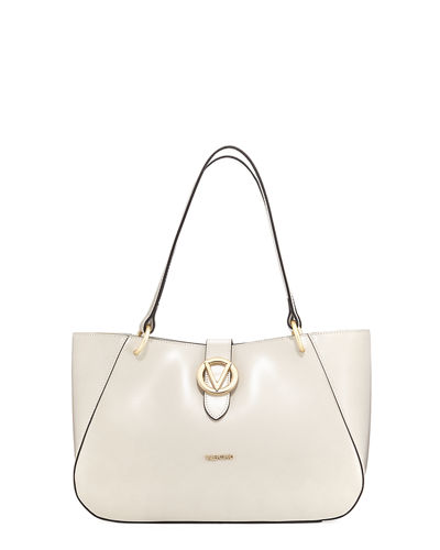 Charlotte Soave Leather Shoulder Tote Bag