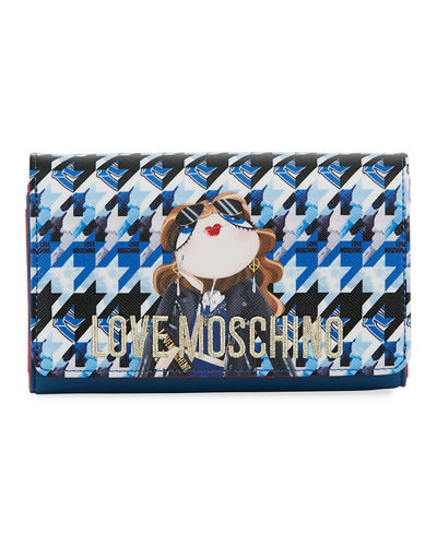 Digital-Print Faux-Leather Wallet