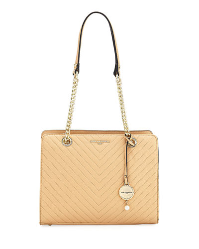 Charlotte Quilted Leather Tote Bag