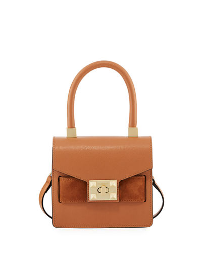 Arlette Palmellato Leather Frame Bag