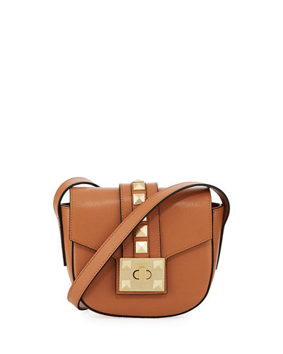 Claudine Palmellato Leather Saddle Bag