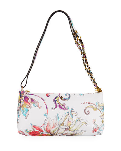 Floral Three-Way Clutch Bag