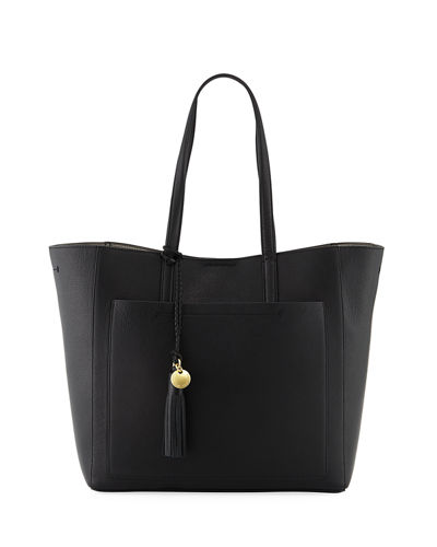 Natalie Unlined Tassel Tote Bag