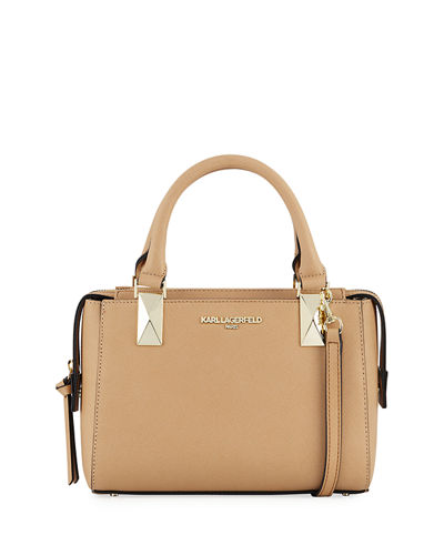 Kendall Mini Saffiano Satchel Bag