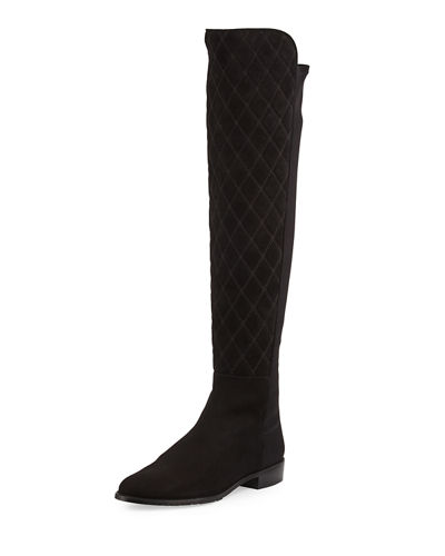 Quiltboot Over-the-Knee Suede Boot
