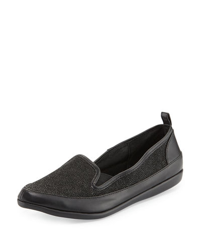 Lennox Chevron Calf-Hair Loafer/