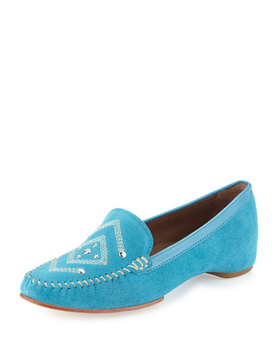 Baja Studded Suede Moc Loafer