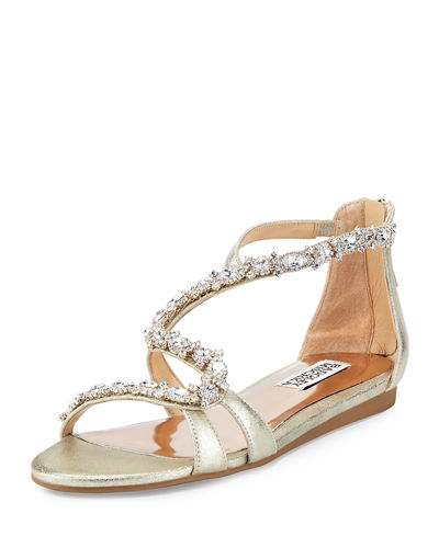Carey Crystal Leather Sandal
