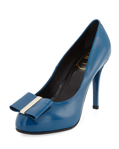 Decollete Smoking Patent 100mm Pump