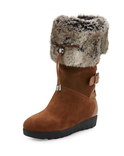 Westley Faux-Fur Trimmed Bootie