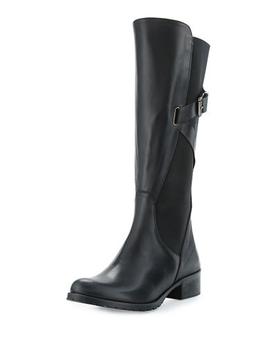 Hilda Leather Gored Mid-Calf Boot