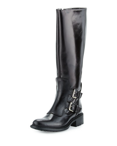 Perina Mid-Calf Leather Boot