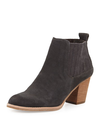 Julia Suede Chelsea Boot, Anthracite