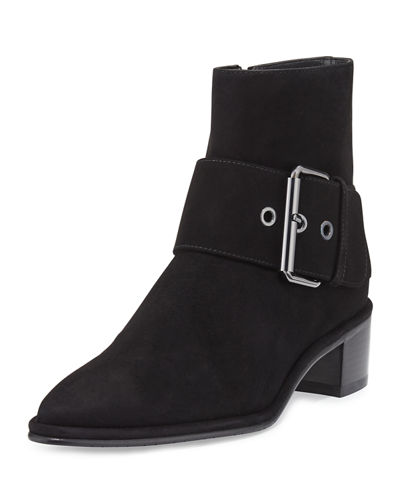 Buckler Suede Buckle Booties